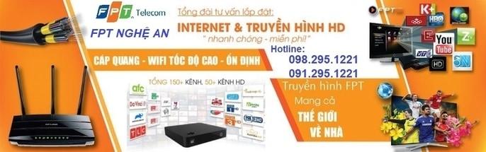Lắp mạng FPT Nghệ An-Đăng ký Internet Wifi Cáp Quang-Truyền Hình FPT